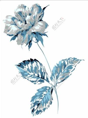 唯美蓝色叶子