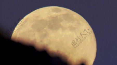 月亮升起实用高清素材