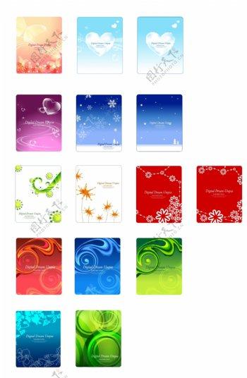 梦幻花纹圣诞花边线条底纹图案背景韩国花纹图库2PSD分层素材源文件