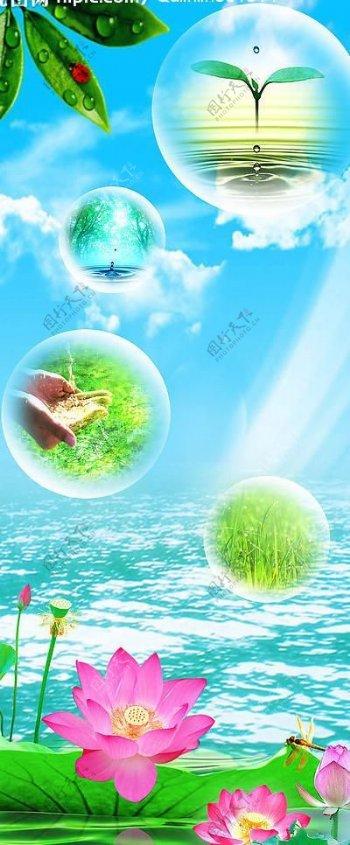 水资源展板图片