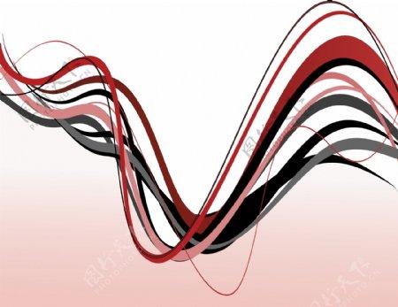 矢量动感波浪线设计