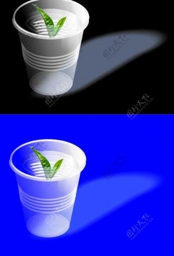 矢量一次性杯子图片