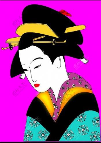 日本女人SVG