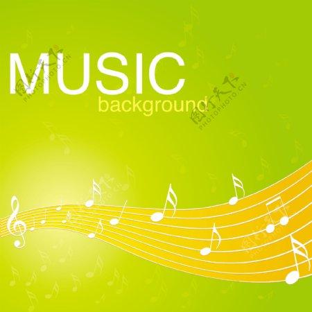 充满活力的音乐背景图案矢量素材02