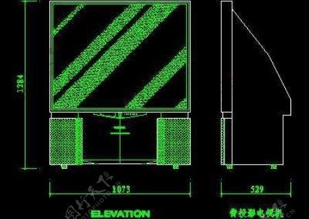 电视机图块视听设备图块影院音响组合图块电脑CAD图块18