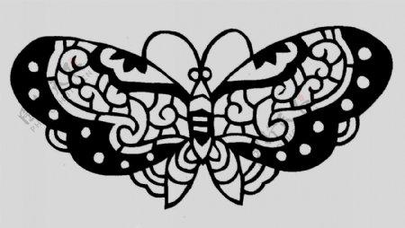 小蝴蝶剪纸