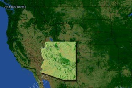 地形结构地形图