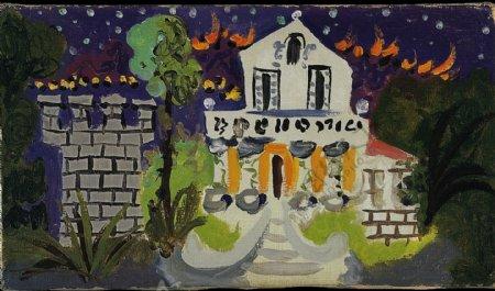 1931VillaCh鍧Roc西班牙画家巴勃罗毕加索抽象油画人物人体油画装饰画