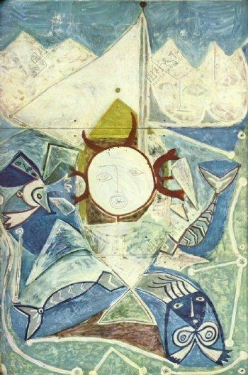 1947Ulysseetlessir濡宔s西班牙画家巴勃罗毕加索抽象油画人物人体油画装饰画