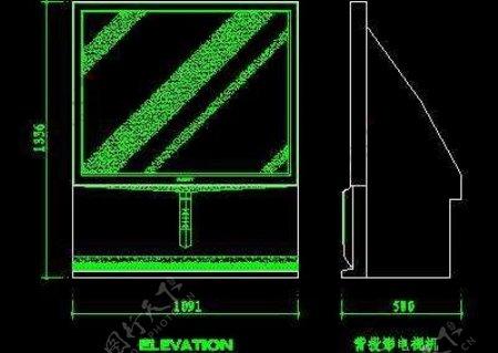 电视机图块视听设备图块影院音响组合图块电脑CAD图块19