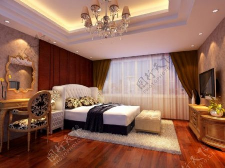 欧式卧室3d设计