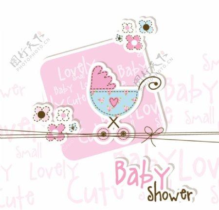 童趣婴儿卡片粉色童趣卡片图片