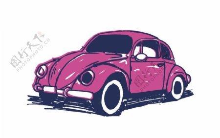 卡通矢量CDR小车图片