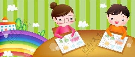 韩国儿童画画图片