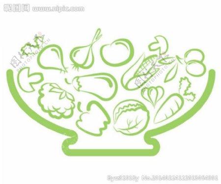 蔬菜线稿图片