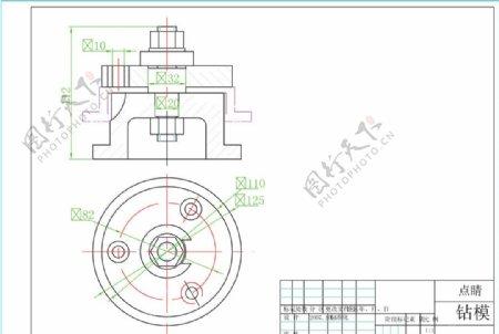 钻模机械设计图图片