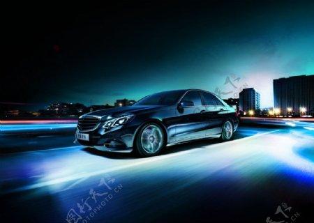 奔驰E级豪华轿车图片