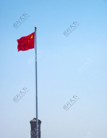 五星红旗天看门图片