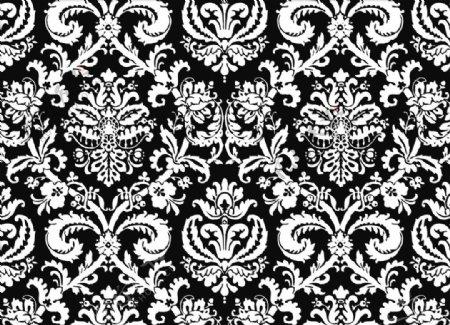 欧洲经典对称图案割绒图案图片