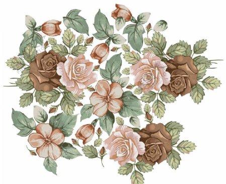 玫瑰花纹图片