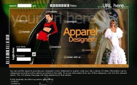 欧美衣服设计模板图片