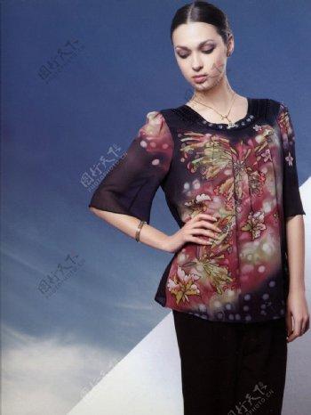 嘉时莉品牌形象代言人时尚性感美女中国传统纹样服饰人物图库明星偶像摄影图库600DPI图片