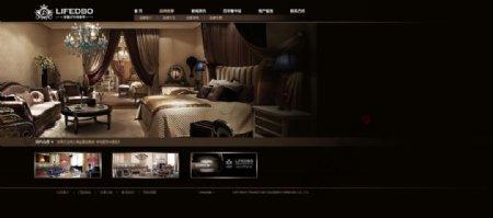 奢华灰色家具网页首页模块页面图片