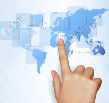 手指地形图