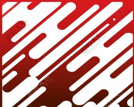 红色背景图案