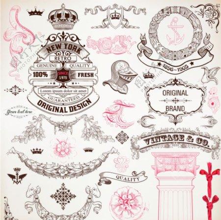 欧式复古花纹