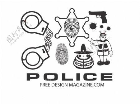 警察向量集合