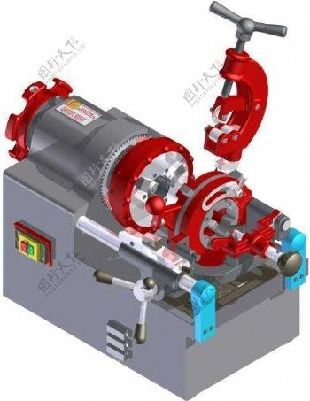 切管机机械模型