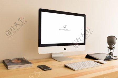 网页设计iMac样机素材