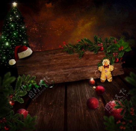 圣诞树与圣诞球
