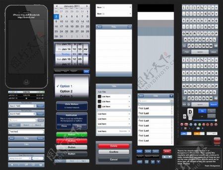 iPhone4手机网页素材
