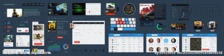 客户端UI元素PSD