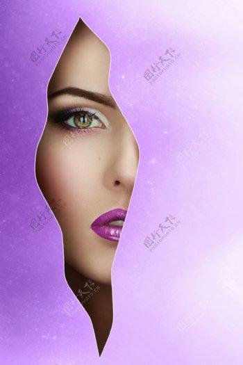 美女面部人体艺术图片