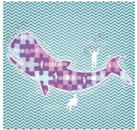 矢量鱼类元素