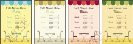 欧洲风格的菜单设计