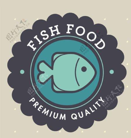 矢量鱼类图标EPS