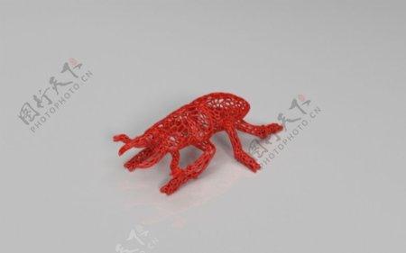 攻击甲虫3D打印模型