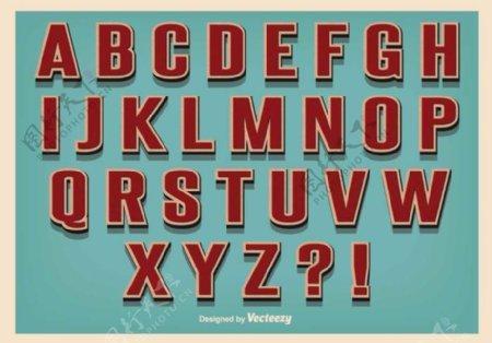 复古复古风格字母