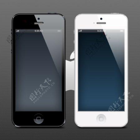 iPhone5手机机身模板设计PSD素材