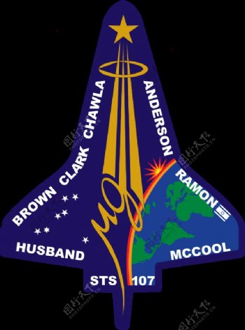 STS107飞行徽章