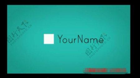 电子请帖贺卡创意视频片头AE模板