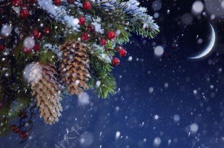 冬天梦幻背景素材