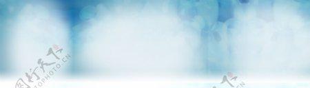 蓝色简约梦幻背景素材1920X550