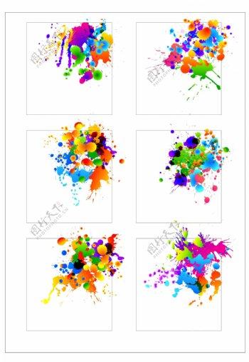 笔刷设计应用背景图案矢量素材AI格式0363