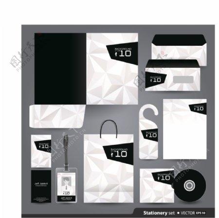 简约黑白包装创意文化vi素材