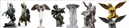 7款欧洲风格雕塑透明素材